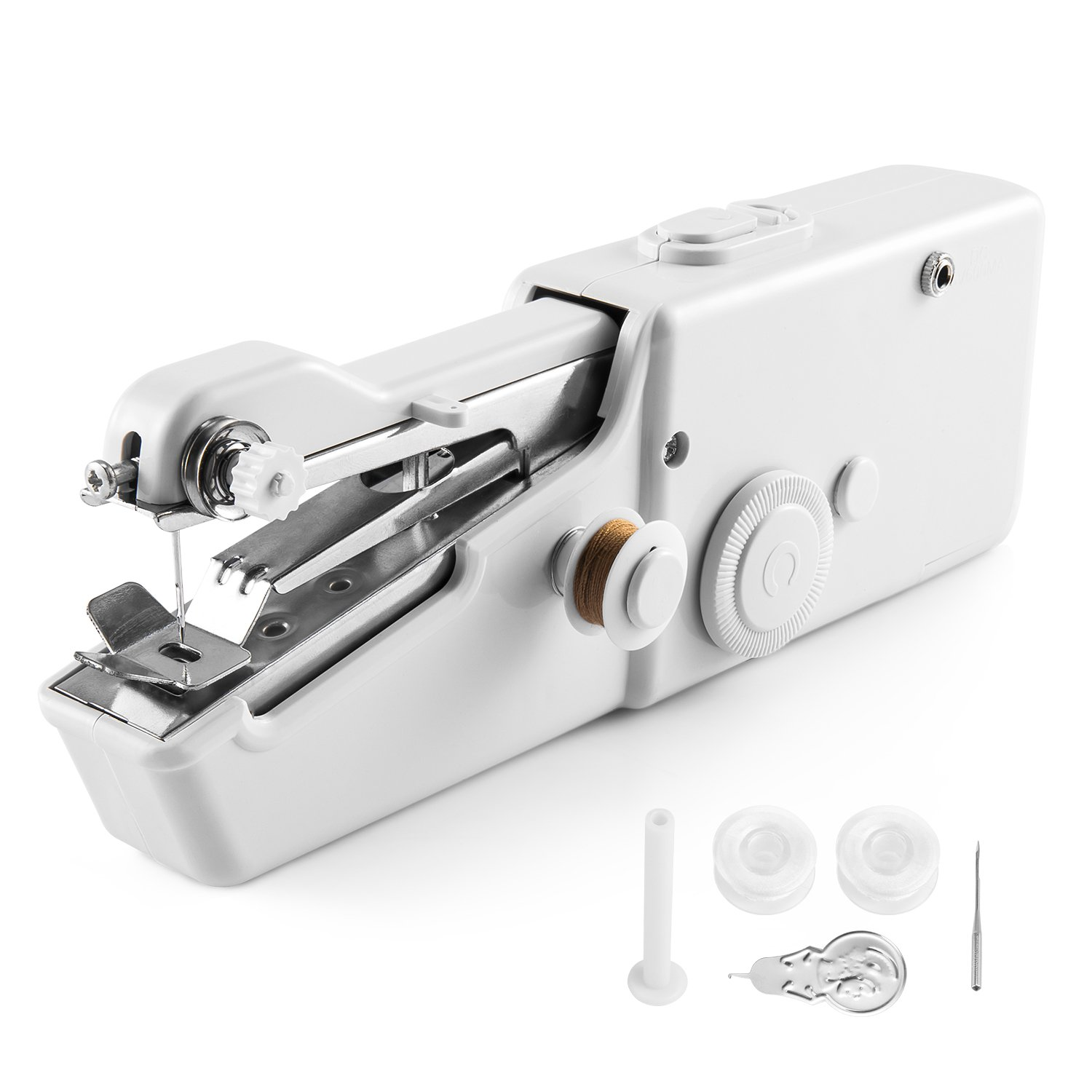 Handheld Sewing Machine, Mini Handy Stitch Portable Sewing Machine Cordless Batteryed for Home Travel