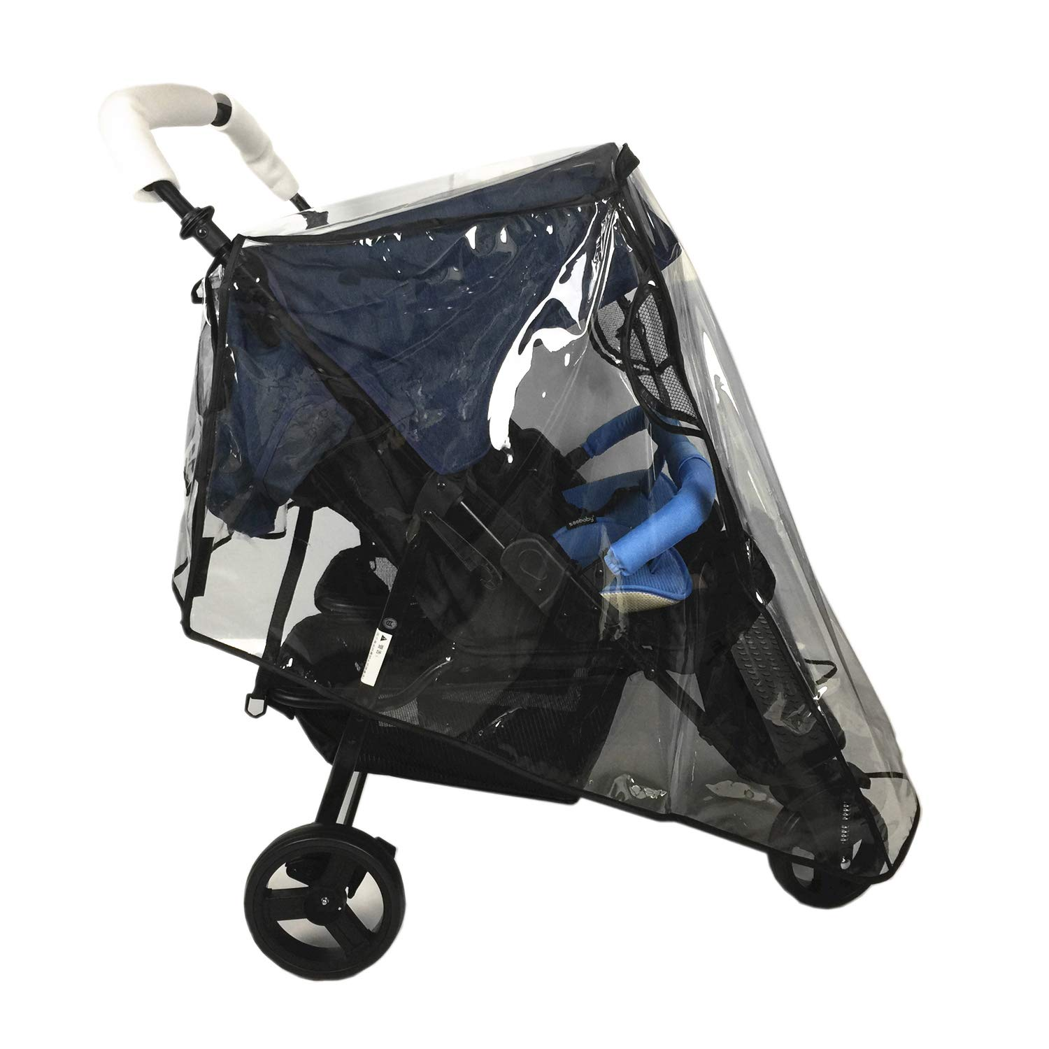 Weather Shields for Double Strollers Universal Side by Side Baby Stroller rain Cover