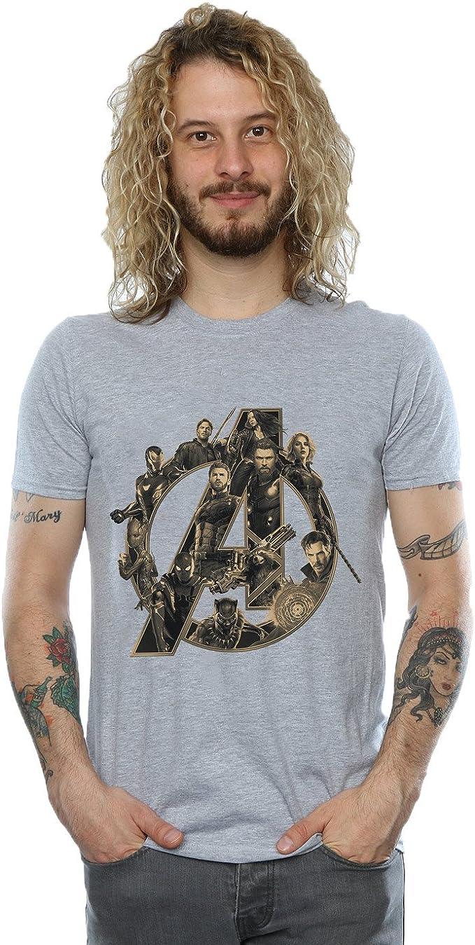 TALLA XXL. Avengers Hombre Infinity War Avengers Logo Camiseta