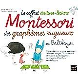 Le coffret écriture-lecture Montessori des graphèmes rugueux de Balthazar : Contient : 25 graphèmes rugueux, 50 cartes images, 50 cartes mots et un livret d'activités