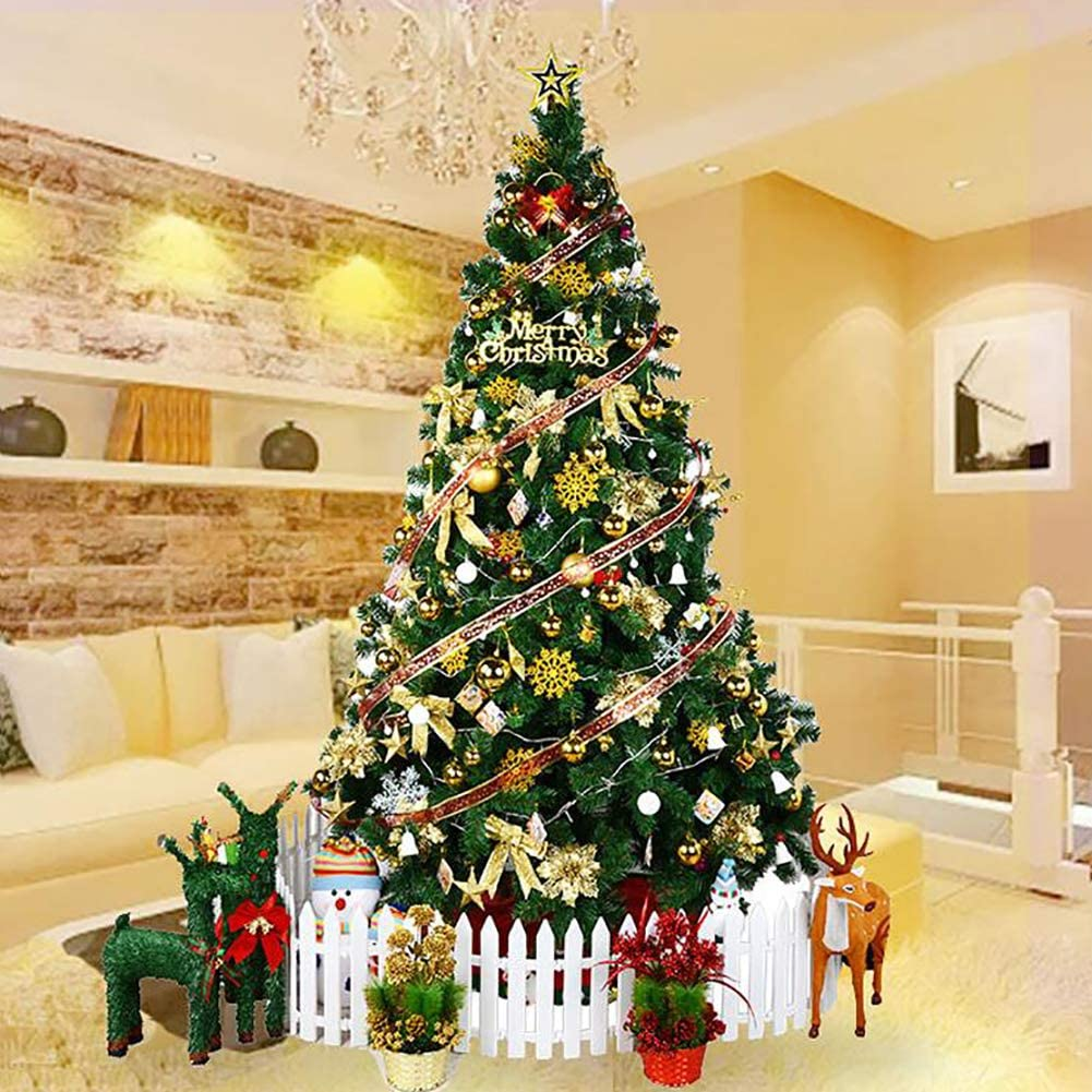 WT&WT Artificial Christmas Tree Spruce Hinged Xmas Tree Christmas Decorations for Indoor Easy Assembly Intensive Branch with Metal Stand-b 5ft(150cm)