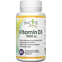 Vitamin D 3 365 Micro Tablets (1 Years Supply) 1000IU Vitamin D3 Supplement, High Absorption Cholecalciferol VIT D 3   Vitamin D3 Mini Tablets Easier to Swallow Than Vitamin D Softgels