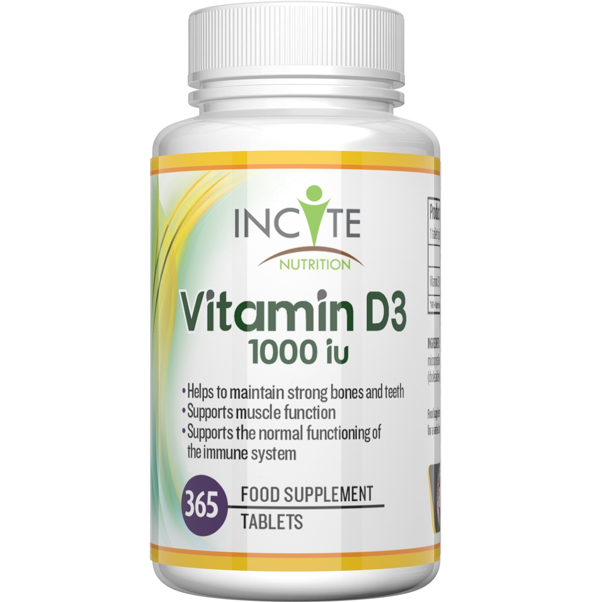 Vitamin D 3 365 Micro Tablets (1 Years Supply) 1000IU Vitamin D3 Supplement, High Absorption Cholecalciferol VIT D 3 | Vitamin D3 Mini Tablets Easier to Swallow Than Vitamin D Softgels product image