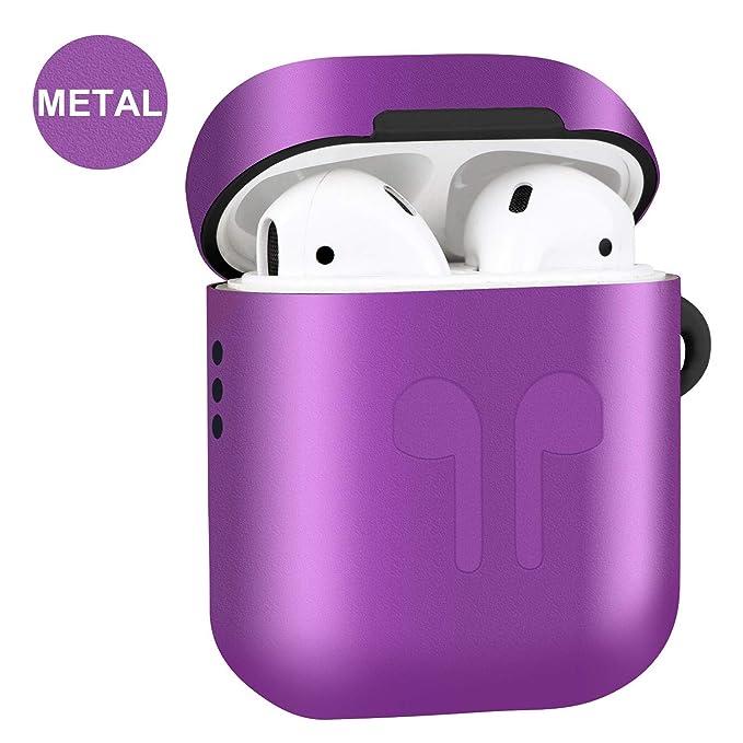 Amazon.com: Amoysanli - Funda de metal para AirPods 1 y 2 ...