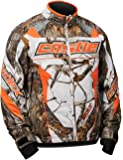 Castle X Bolt Realtree G4 Mens Snowmobile Jacket Snow - Orange - XLG