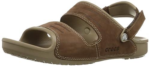 cfe1c5d064fe crocs Men s Yukon Two-Strap Khaki Espresso Sandals -M11 (14325-23G ...