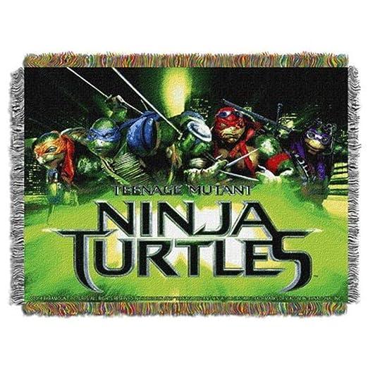 Manta para niños con diseño de Tortugas Ninja, color verde y ...