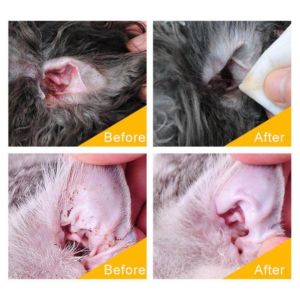 Limpiador de orejas para perros y gatos, no irritante ...