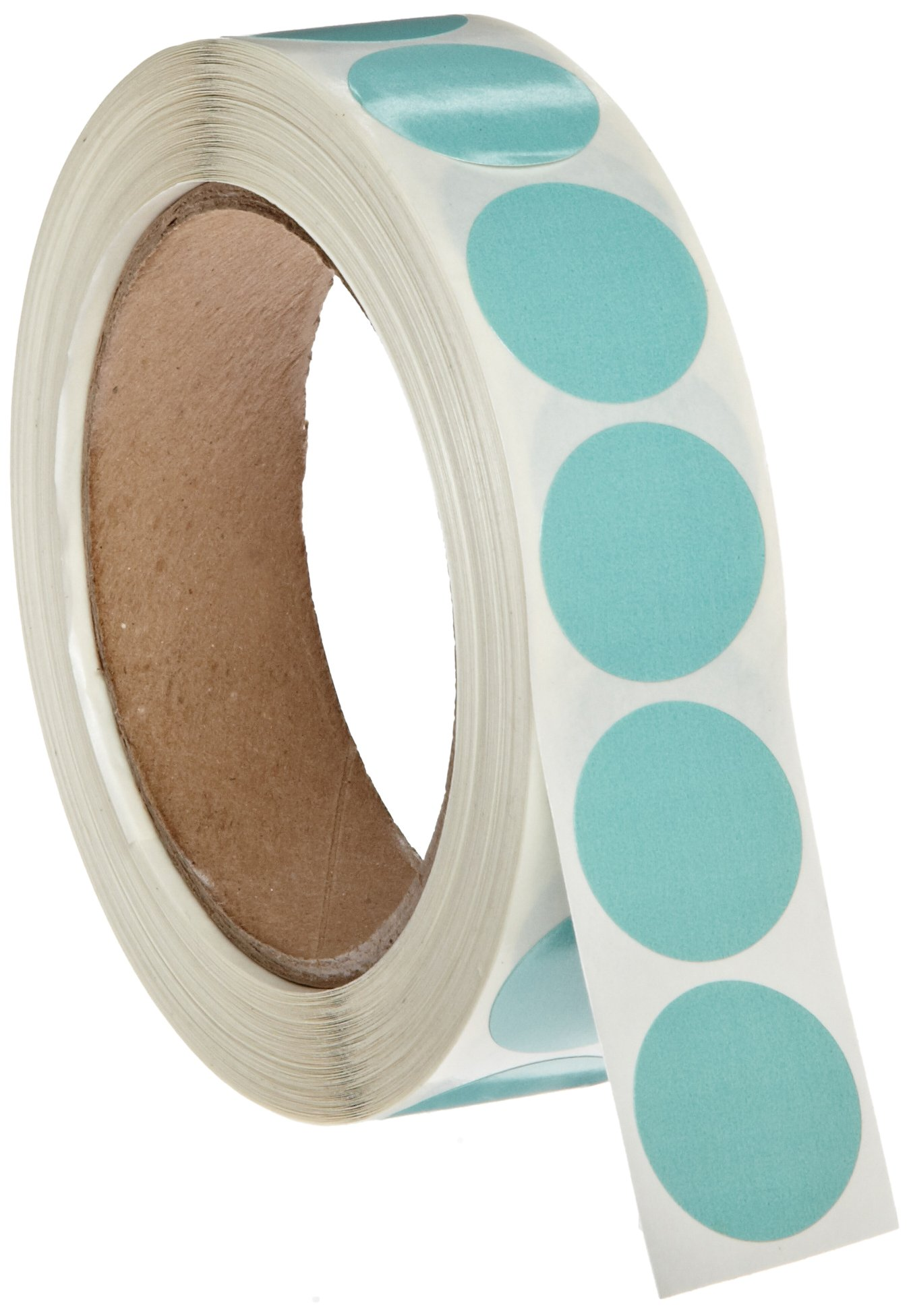 Roll Products 119-0004 Adhesive Dot Label, 1'' Diameter, For Inventory and Marking, Blue (Roll of 1000)