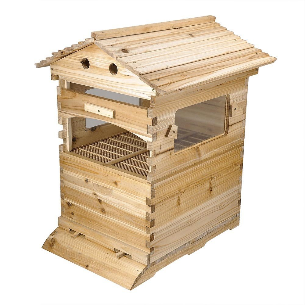 CHIMAERA Honey Harvest Farming Beehive Wooden Box Frame Kit Langstroth Style with Queen Excluder and Accessories