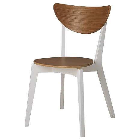IKEA NORDMYRA - la silla del roble / blanco: Amazon.es: Hogar