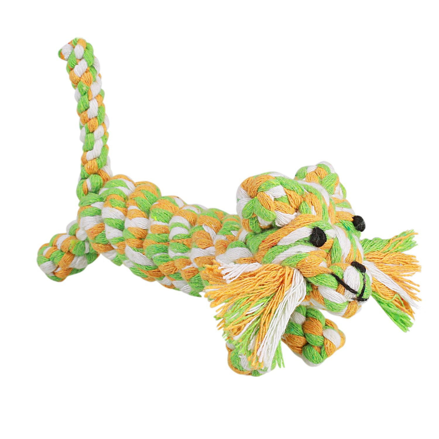 Dog Toys by Pecute Puppy Dog Cotton Rope Toys Durable Chew Toy Set for Small and Medium Dogs - 4 Pack Gift Set