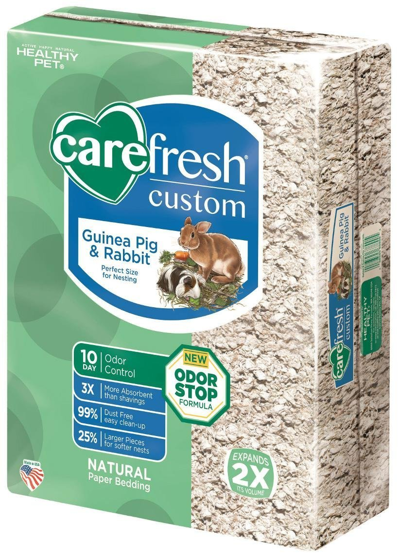 Carefresh Custom Rabbit/Guinea Pig Pet Bedding, 60 L, Natural