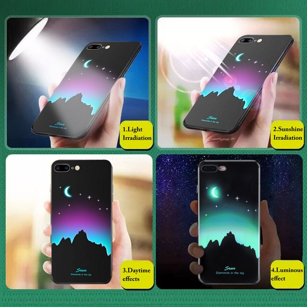 bangcool IPhone 7 Plus Case, Flexible Phone Case Glow in the Dark Soft Phone Cover for IPhone 7 Plus IPhone 8 Plus