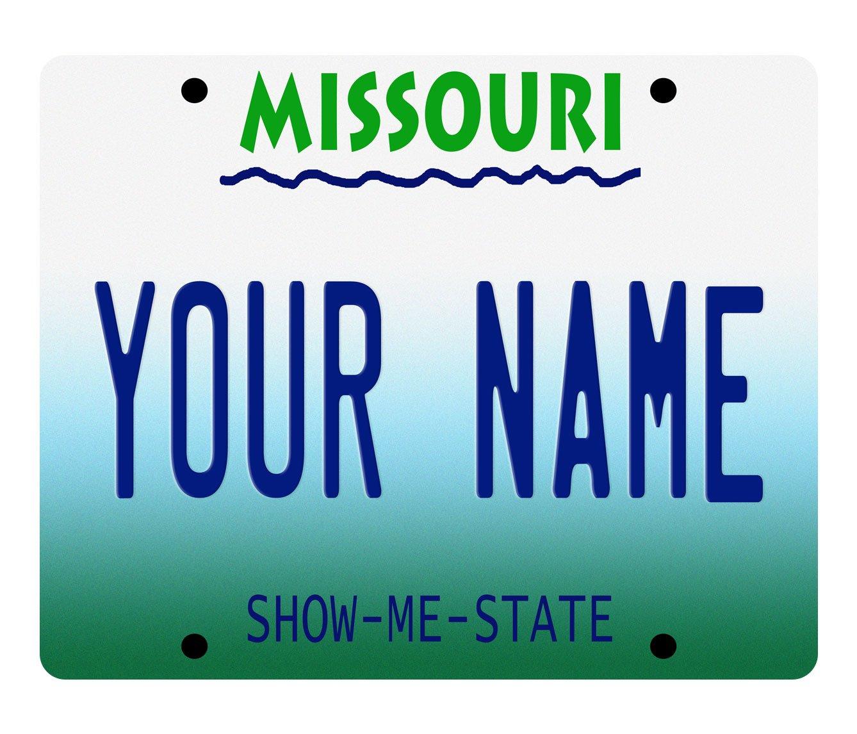 BleuReign(TM) Personalized Custom Name Missouri License Plate State Square Refrigerator Fridge Magnet