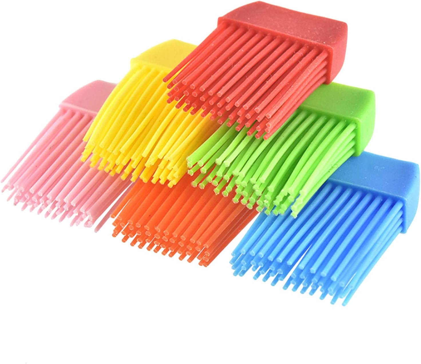 Siebwinn Stainless Steel Grill BBQ Cleaning Brush 3pcs Silicone Brushes for Outdoor BBQ Barbecue Cooking Tools Accessories 18 inch