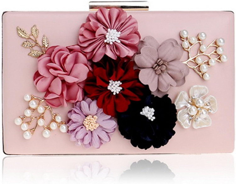 Flower Crystal Evening Clutch Bag Flap Diamonds Applicant Chain Shoulder Handbags Bag Female Beaded Party Wedding Purse