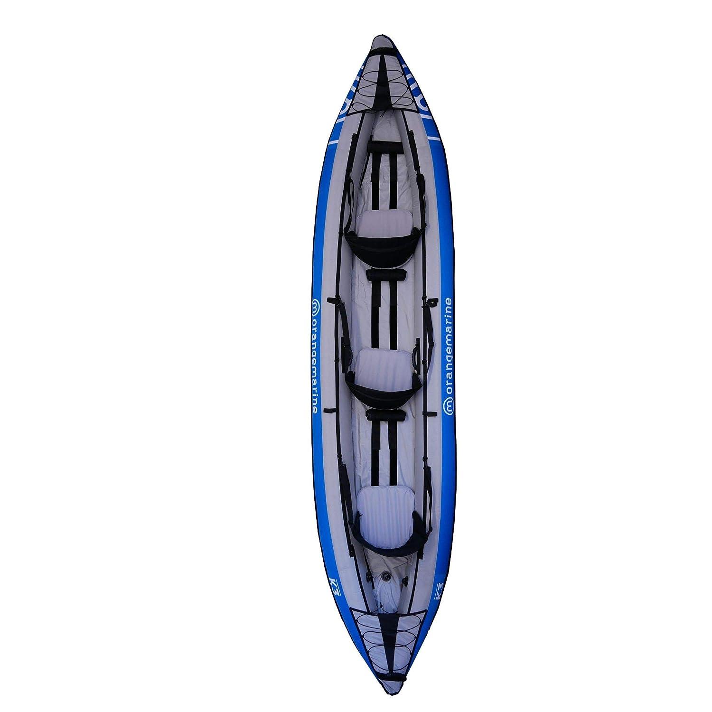 Orange Marine Kayak Hinchable Naranja Marina K3-3 plazas: Amazon ...