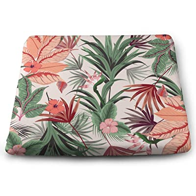 Sanghing Customized Beautiful of Tropical Flowers, Jungle Leaves, Bird of Paradise Flower 1.18 X 15 X 13.7 in Cushion, Suitable for Home Office Dining Chair Cushion, Indoor and Outdoor Cushion.: Home & Kitchen