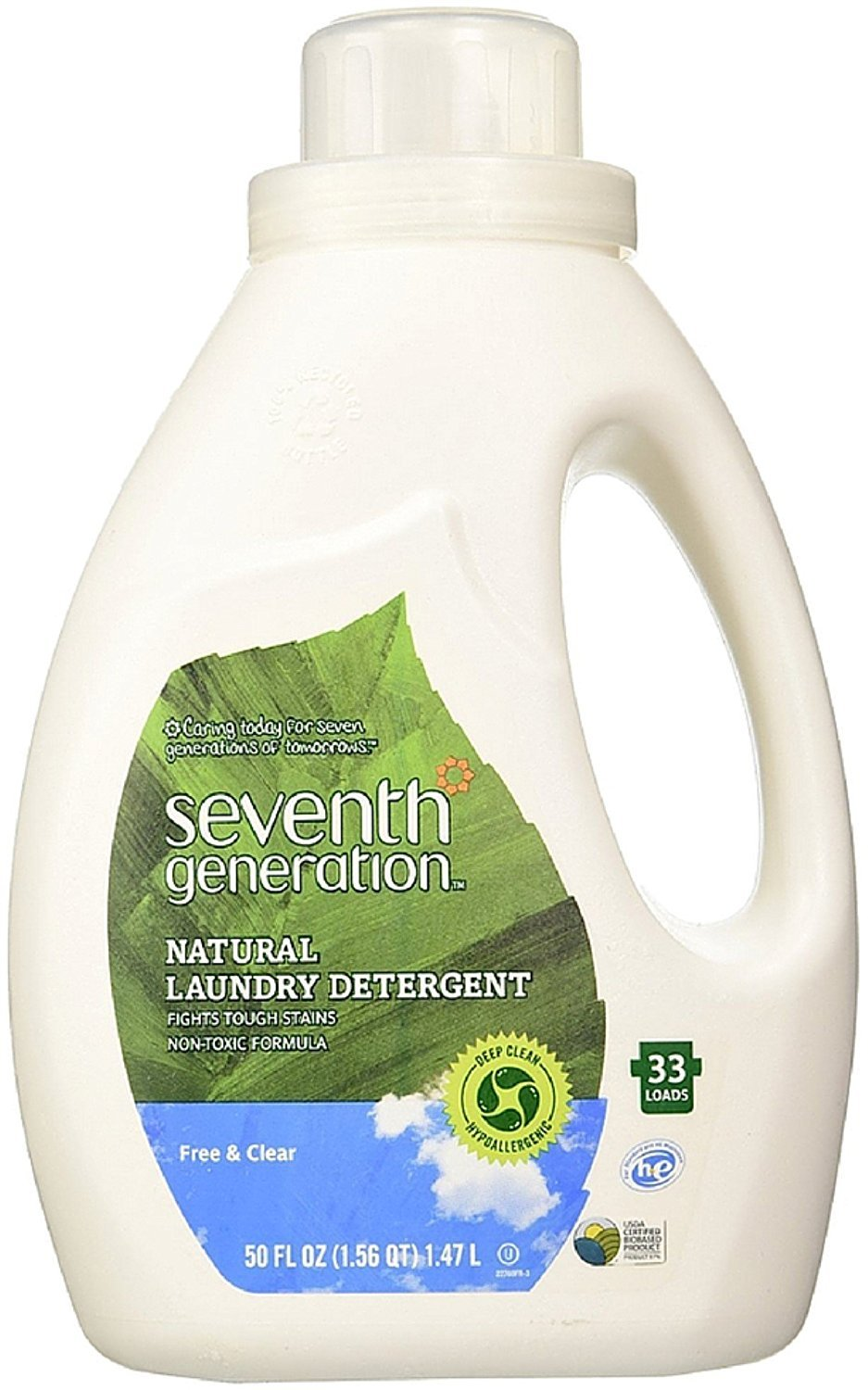 Seventh Generation Natural Laundry Detergent, Free & Clear 50 oz by Seventh Generation B01IAIM204