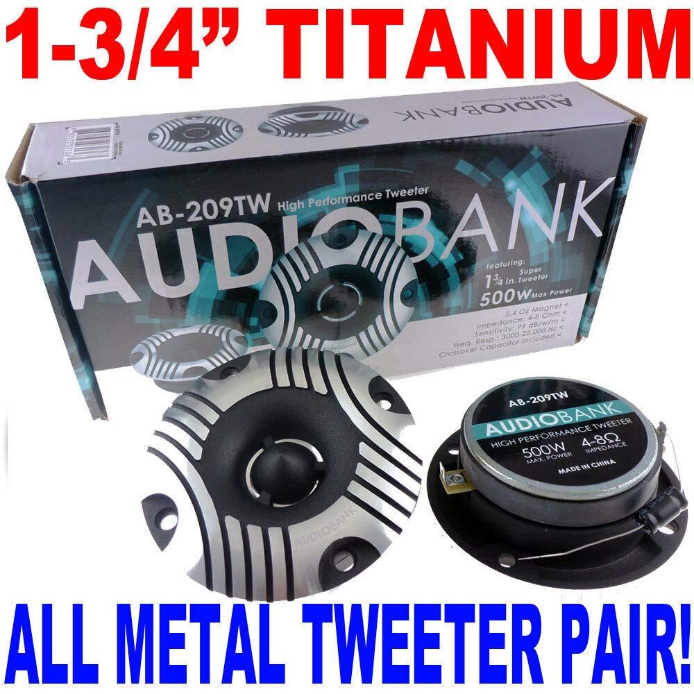 3.75'' ALUMINUM BULLET TITANIUM HORN SUPER TWEETER (PAIR) 1.75'' 500W AB-209TW by AudioTek