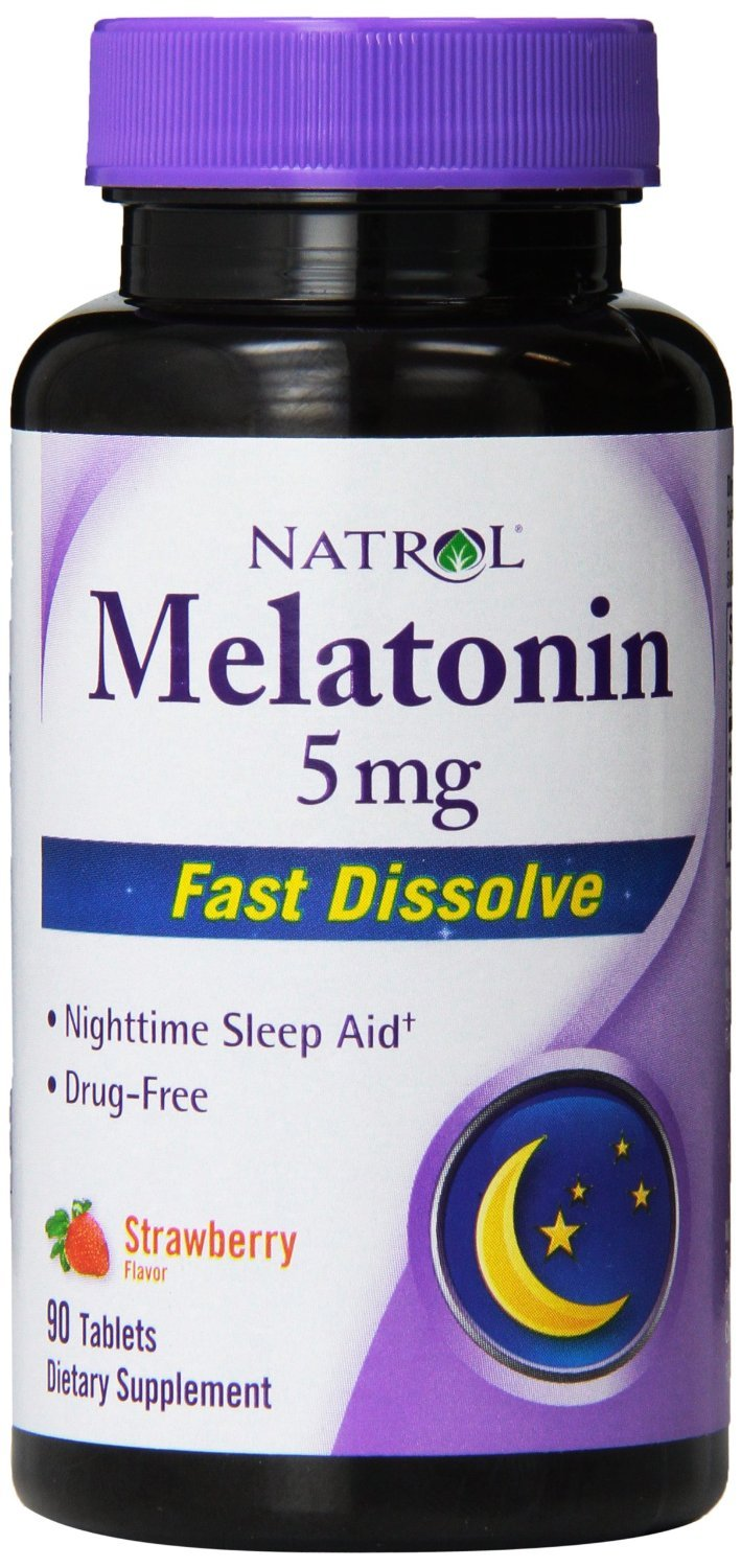 Amazon.com: Natrol Fast Dissolve Melatonin 5 mg Tablets, Strawberry 90 ea (Pack of 3): Health & Personal Care