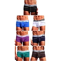 Arjen Kroos Men's Bamboo Boxer Briefs Underwear Sexy Bulge Pouch Trunks