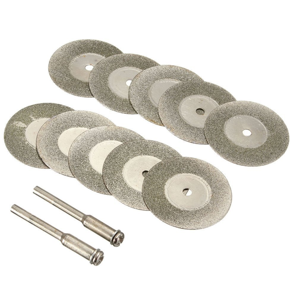 Diamond Cutting Wheel Cut Off Discs Coated Rotary Tools W/Mandrel 50mm for Dremel by Lukcase