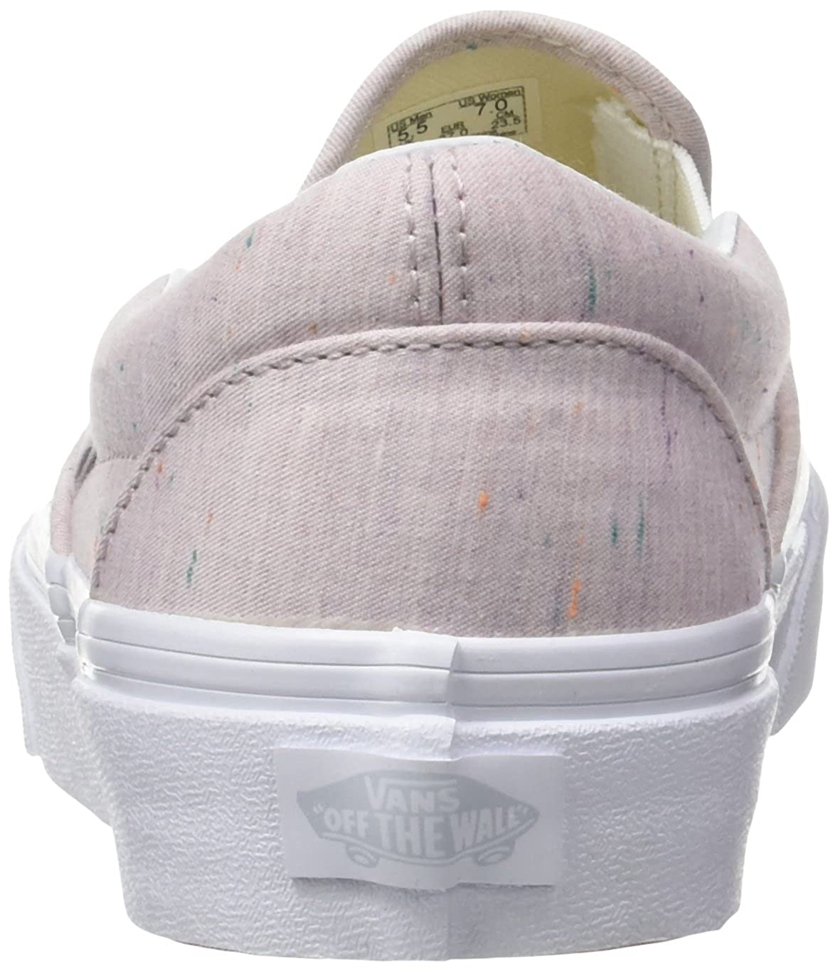 Vans Slip-on Damen Ua Classic Slip-on Vans Sneaker, (Rainbow) True Weiß Pink (Speckle Jersey Pink/True Weiß) 53781c