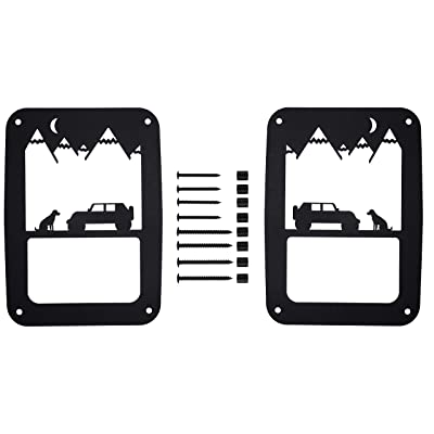 Bulletproof Mounting Solutions Jeep Wrangler Tail Light Covers – Precision Made Rustproof Tail Lamp Guards with Hardware for 2007-2020 JK and JKU (Best Friend Pair): Automotive