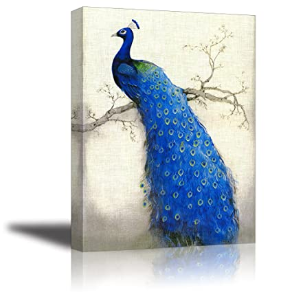 c95edaad03 Peacock Wall Art Decor for Bedroom, PIY HD Beautiful Oil Painting Canvas  Prints of Elegant