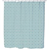 Uneekee Moorish Tiles Shower Curtain: Large Waterproof Luxurious Bathroom Design Woven Fabric
