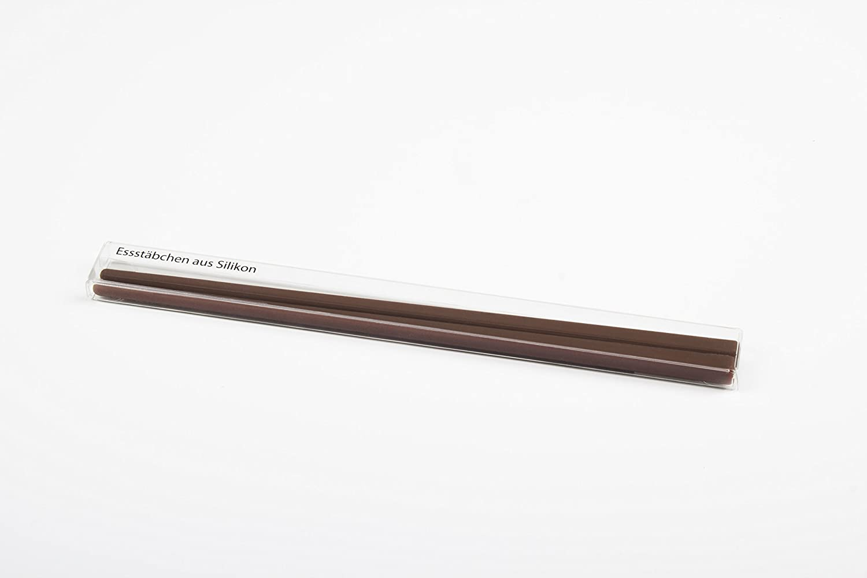 Baguettes en silicone 21 cm de long 1 paire marron
