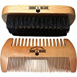 Amazon Price History for:GrowABeard-Beard Brush and Comb Set for Men - Friendly Cotton Bag - Best Bamboo Beard Kit for Home and Travel - Great for Dry or Wet Beards - Adds Shine and Softness to Your Healthy and Cool Beard.