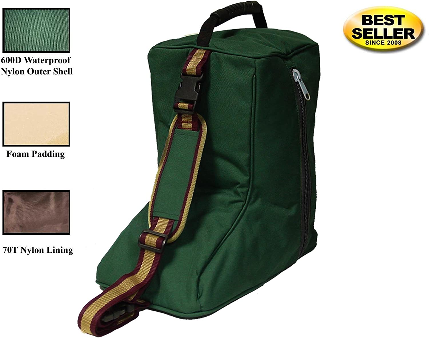 Tahoe Western Waterproof Carry Saddle Bridle and Garment Bag Set with One Year Warranty Boot
