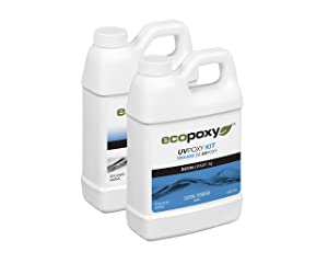 EcoPoxy Coating Resin, 1L UVPoxy Kit for a Durable, Clear Coat Epoxy Finish Used for Counters, Artwork, Cutting Boards and More