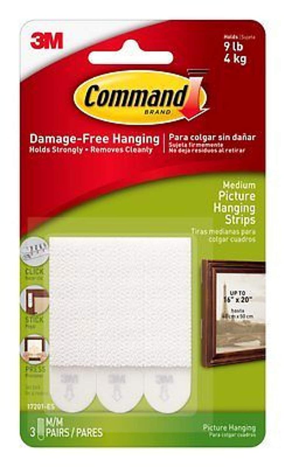 3M Command Picture Hanging Strip ((Medium))