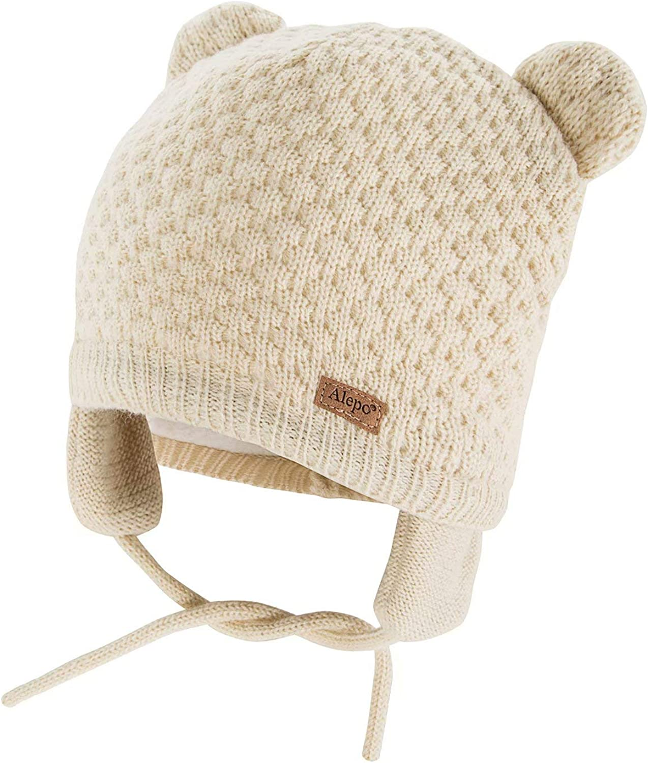 Soft Infant Baby Girl Boy Winter Hats Beanie Warm Knitted Caps With Earflaps New