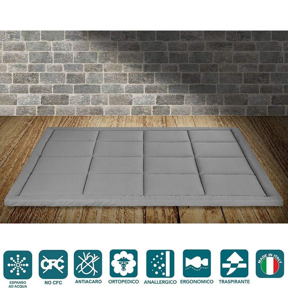 Evergreenweb – Materasso Letto Matrimoniale 160X190 futon Pieghevole e Arrotolabile. Materassi da Terra Alto 5 futon Trapuntato salvaspazio | Bed Ground Prezzi offerte