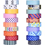 Mudder 20 Rolls Colorful Decorative Washi Tapes Washi Masking Tape for Crafts, Scrapbooks, DIY Crafts and Gift Wrapping Office Party Supplies
