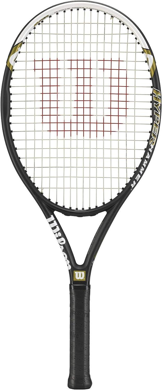 Wilson Raqueta de Tenis, Hyper Hammer 5.3, Principiantes y Jugadores intermedios, Negro/Blanco/Verde, Tamaño de empuñadura L2, Unisex Adulto