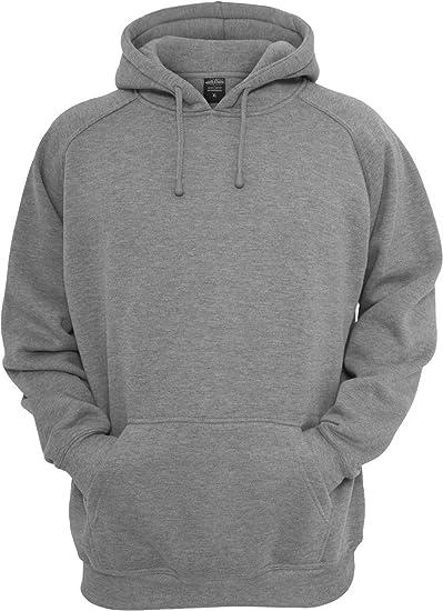 eed091fba Urban Classics Men's Pullover Blank Hoody, Grau (Grey), Small ...