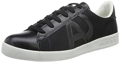 Emporio Armani Armani Jeans 935565CC503, Sneakers Basses Homme - Noir - Schwarz (Nero 00020), 44