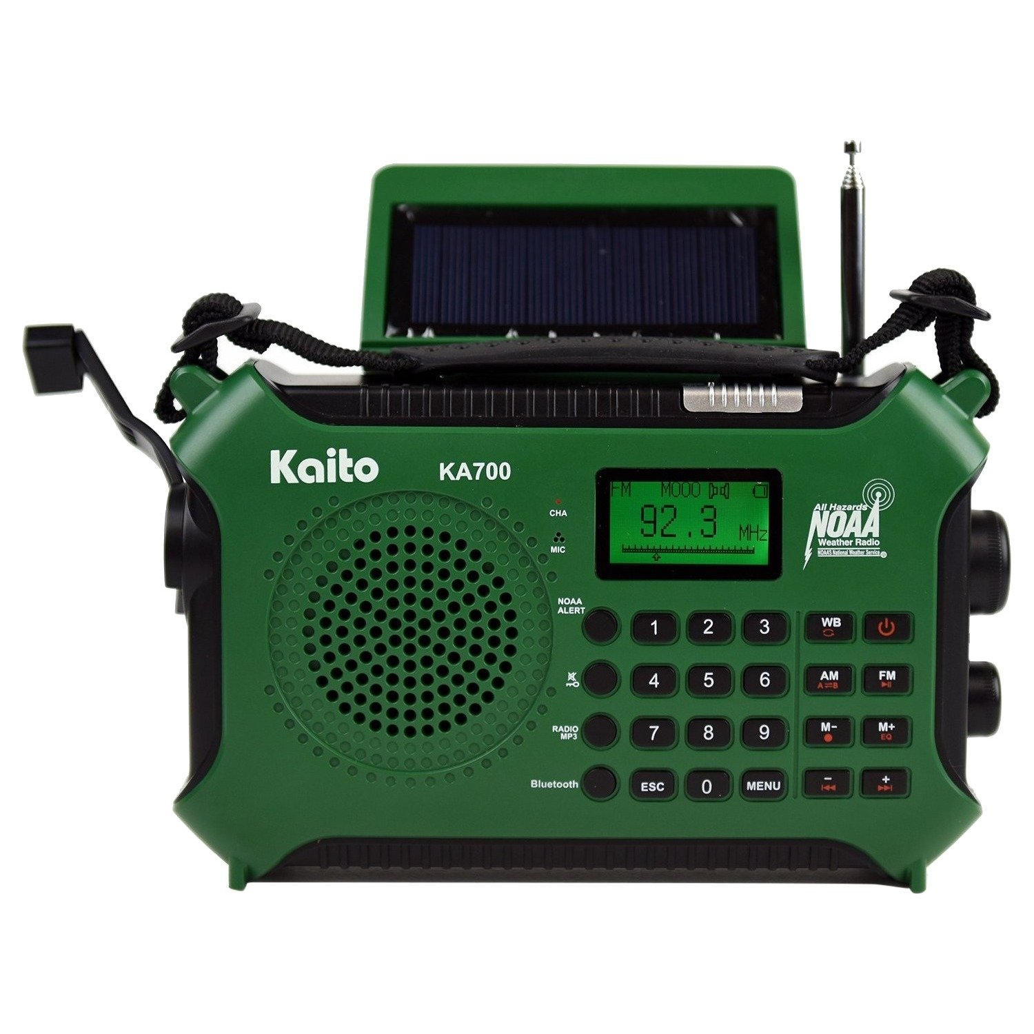 Kaito Solar Crnk BT AM FM WB SW NOAA by Kaito
