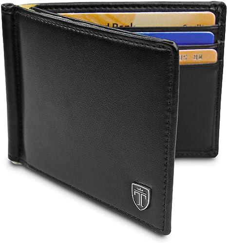 Men Bifold Slim Wallets Purse ID Credit Card Holder Stainless Steel Money Clip