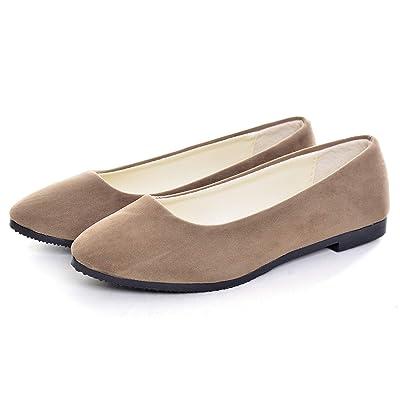 Dear Time Women Casual Comfortable Slip On Ballets Flats Square Toe Elegant Wedding Flat Shoes | Shoes