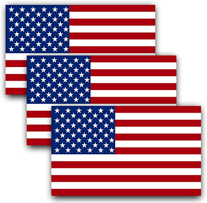 """Weathered American Flag Decal 3/"""" tall x 5/"""" wide Vinyl Indoor Outdoor FREE SHIP"""