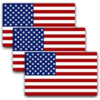 Anley 5 X 3 inch American US Flag Decal - Patriotic Stars Reflective Stripe USA Flag Car Stickers - Support US Military…