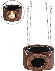 WINOMO Animali amaca pensile Snuggle grotta rifugio scoiattolo Chinchilla cavia topo con catene di 4pz