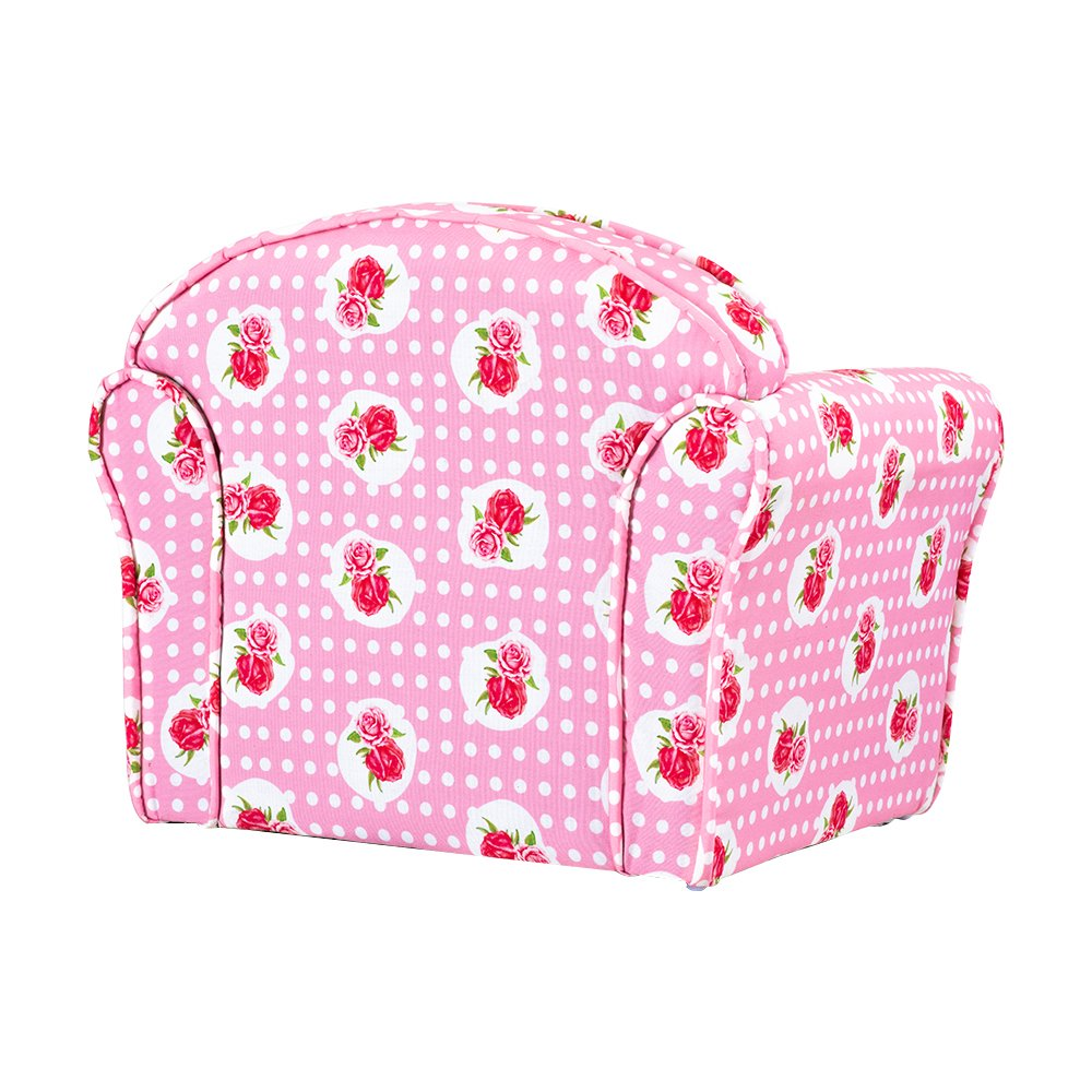 Panana Kids Childrens Upholstered Armchairs Girl Boy Bedroom Playroom Seating Chair Rose